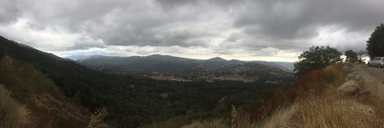 View from the road up Palomar Mountain