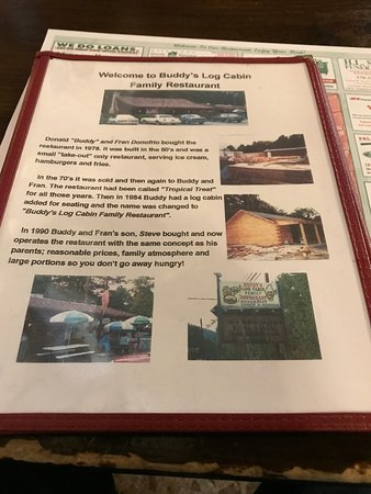 Pine Grove, PA: Menu with History