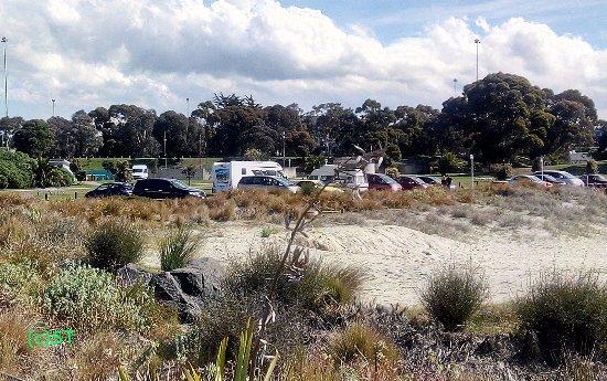 Timaru, Nuova Zelanda: Sand and park