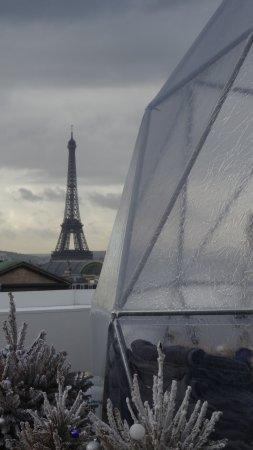 Alto cafe Galeries Lafayette: Caffe Lafayette - Vista della Tour Eiffel