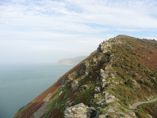Looking towards Lynmouth - Valley of the Rocks
