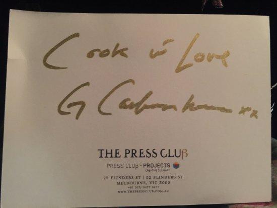 The Press Club : Thankyou George Calombaris!