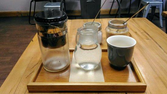 Spring Espresso : Porridge and Chinese green tea