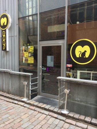 Monkey Bar Riga entrance in November
