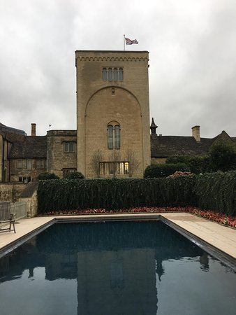 Ellenborough Park: The lovely warm outdoor pool early in the morning.