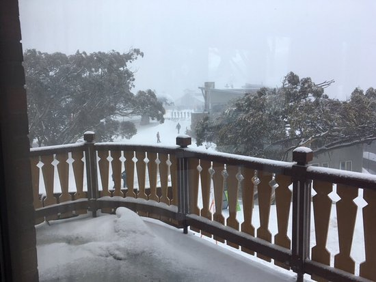 Mount Buller, Australien: View from the upstairs balcony