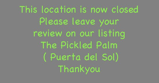 The Pickled Palm: Your review is important to us