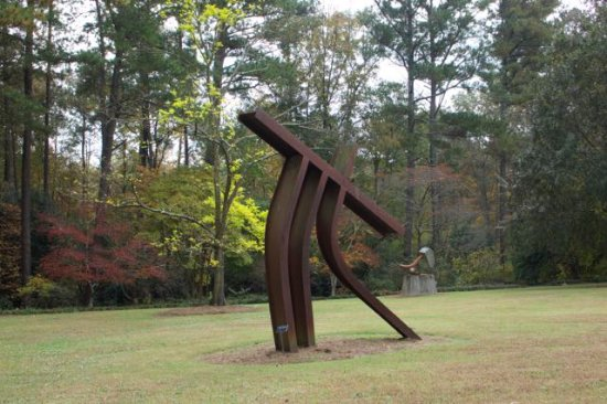 Smith Gilbert Gardens: Several sculptures are placed around the ground