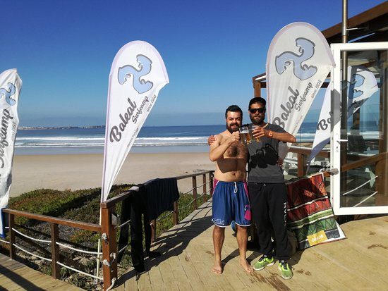 Baleal Surf Camp: Me and my instructor!!!