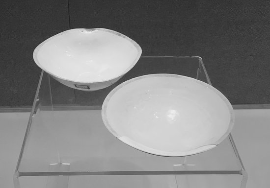 Dehua County, Kina: Yuan dynasty (1279-1368 AD) tea bowls at the Dehua Museum