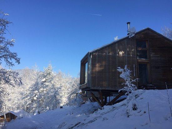 Vagney, Fransa: ecologite dans la neige