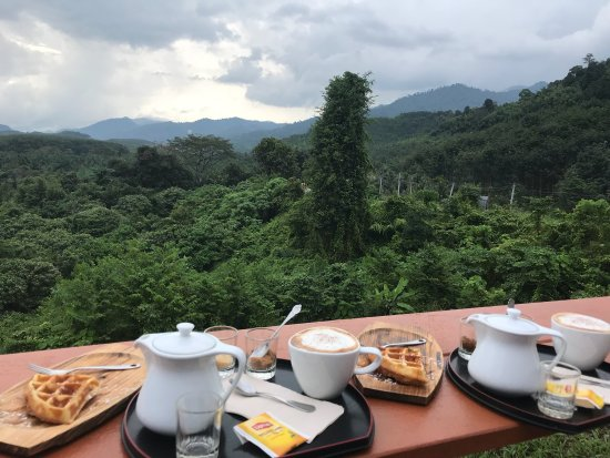 Phanom, Thailand: Perfect COFFEE and a great view!!!