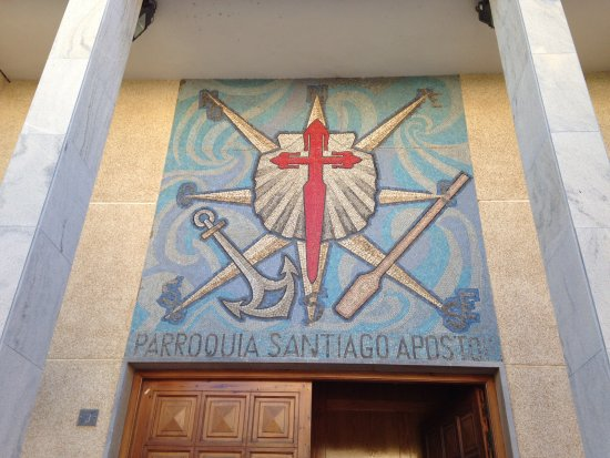 Santiago de la Ribera, Spagna: Mosaic design above main entrance