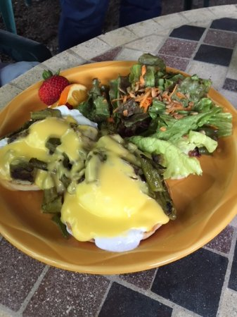 Springfield Center, NY: eggs benny-made with roasted local asparagus and local eggs