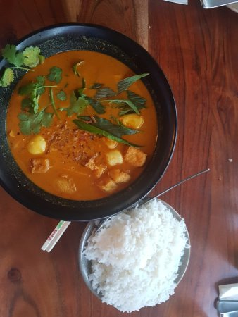 Leederville, Australia: Malaysian Curry Laksa (with rice instead of noodles - thanks)