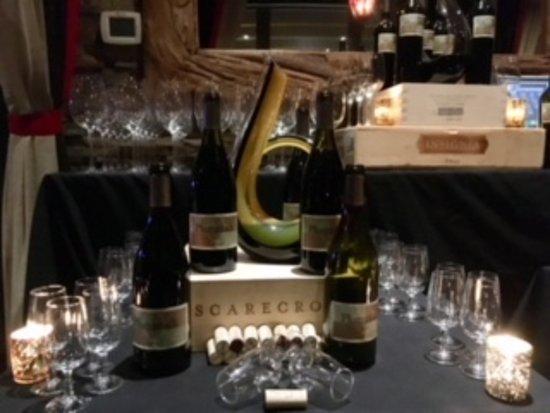 Smithtown, NY: Set-up for PlumpJack wine dinner
