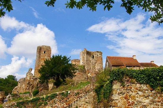 Herisson, Frankrike: Zicht op het kasteel