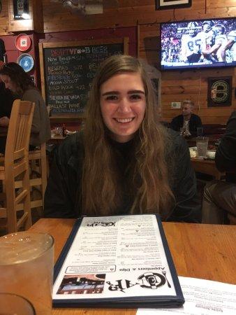 Blacksburg, VA: My dinner date, AKA, hungry college kid