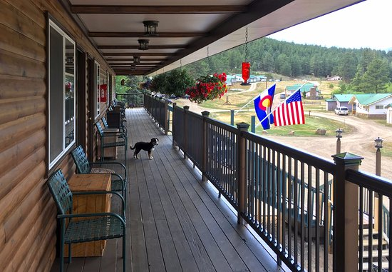 Bailey, CO: Upper deck (with Bonnie).