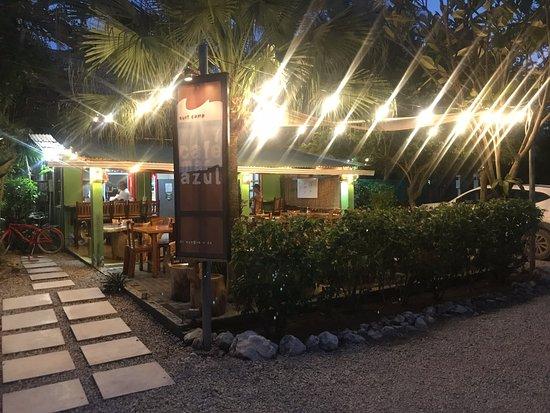Cafe Mar Azul: Night view