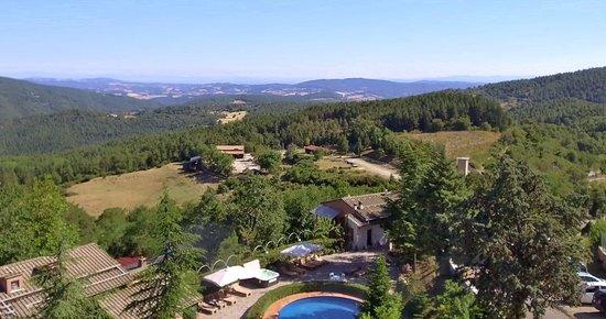 Montieri, Italy: Vista sulle colline della Toscana dall' Hotel Prategiano