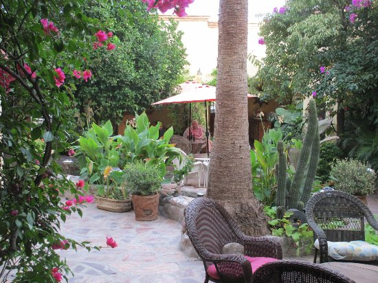 Banamichi, Mexico: A portion of the central courtyard
