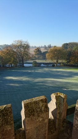 Rushton, UK: The morning view from our room