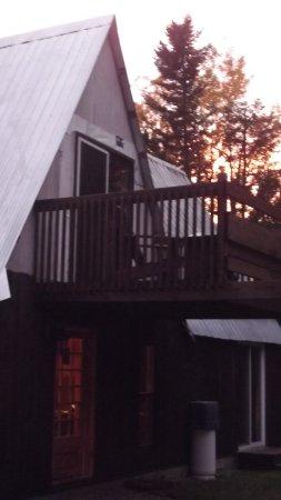 Sacré-Coeur-Saguenay, Canada : Notre terrasse super la nuit pour les étoiles !