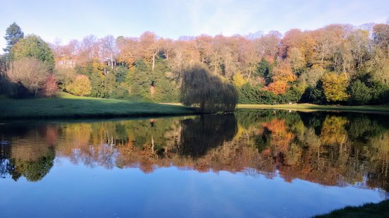 Fountains Abbey and Studley Royal Water Garden: The lakes were like mirrors today, so still...