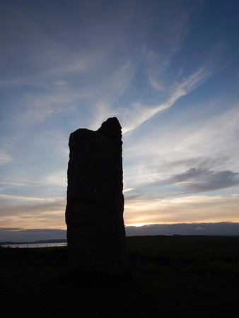 Stenness - standing stone.