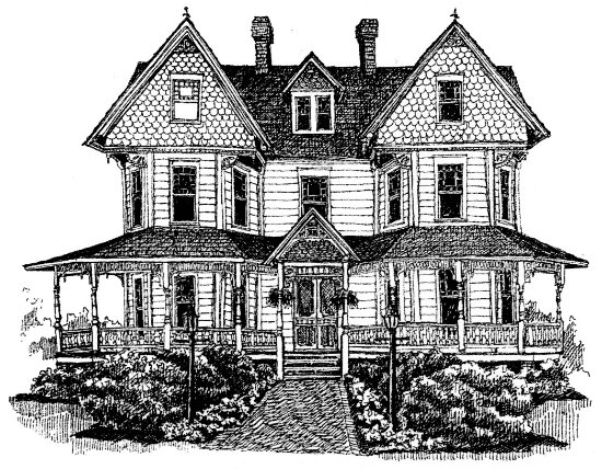 New Church, VA: Drawing of Victorian