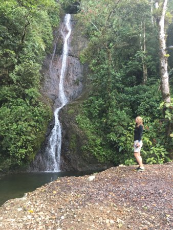 Hotel Quelitales: Our 1st swim in a waterfall