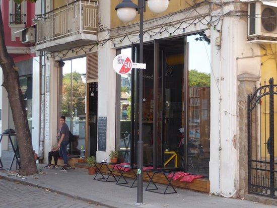 Art News Cafe: the entrance