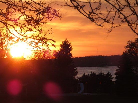 Ogdensburg, NY: Sun set from the balcony