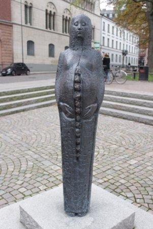 Lund, Sweden: Creepy statue