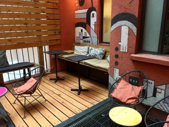 Hostel Suites DF: Espace commun/Terrasse