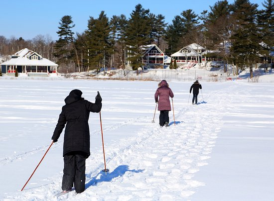 Severn Bridge, Kanada: Cross Country Skiing over Sparrow Lake