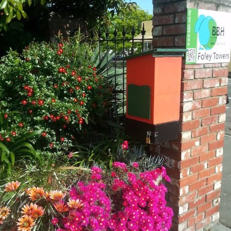 Foley Towers: The postbox in Spring.