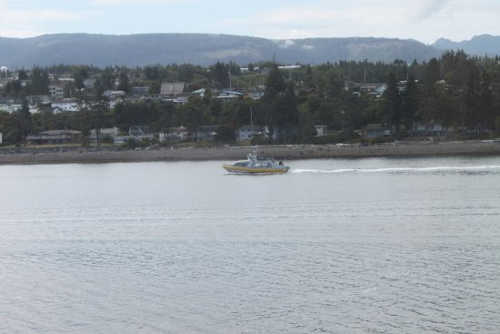 Port McNeill, Canada: The MacKay boat as seen from the ferry
