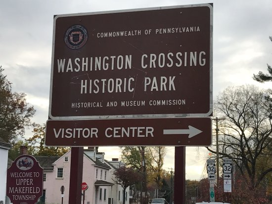 Washington Crossing, PA: welcome sign