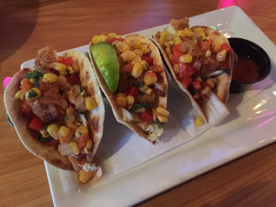 Fish tacos picture of le bureau de poste quebec city tripadvisor