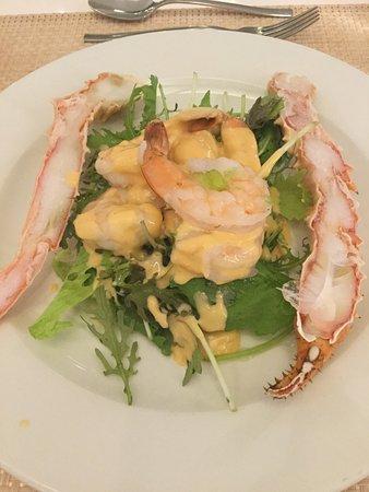 Cap Estate, St. Lucia: crab and prawn