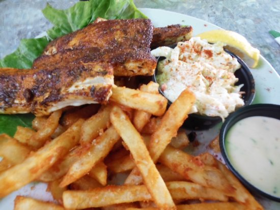 Sugarloaf Key, FL: Fish (mahi mahi) & chips