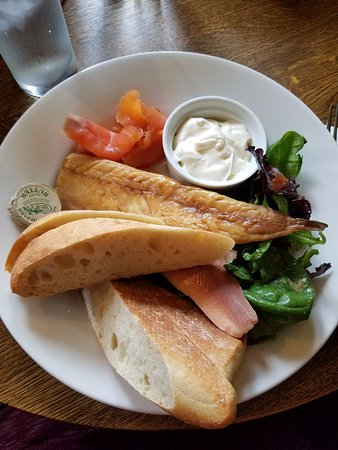 The Red Lion: Smoked fish board-quite tasty and filling.