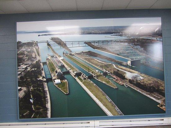 Sault Ste. Marie, MI: Picture inside the visitors center