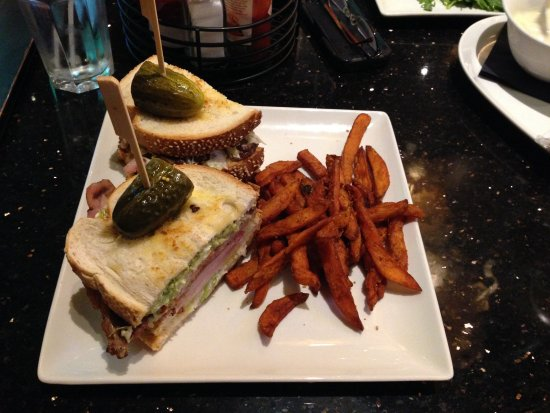 Plainville, MA: California Club With Sweet Potato Fries
