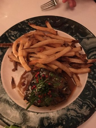 Chez Josephine: Steak and frites - way over cooked (fries weren't even hand cut)