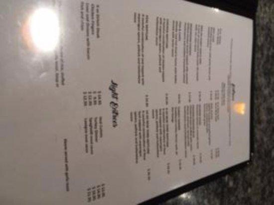 Innisfail, Canada: menu5
