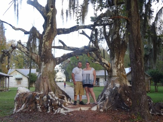 Millbrook, AL: My husband and i under the iconic tree entrance to Spectre