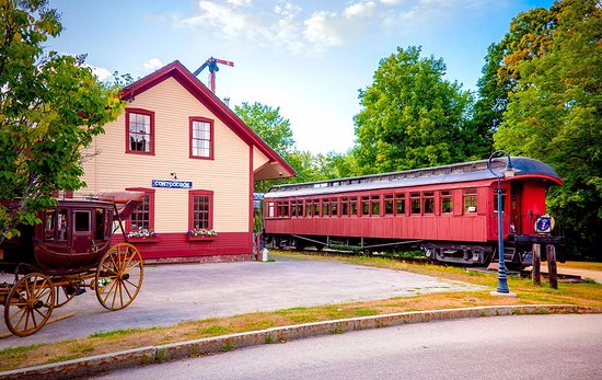 The Contoocook Railroad Museum with Boston & Maine Coach and Abbott & Downing Coach